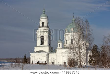 Temple of Alexander Nevsky. The village Schurla. Sverdlovsk region. Russia.