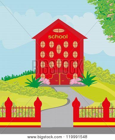 Funny School Building