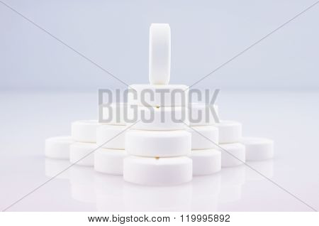 Wall Of White Tablets