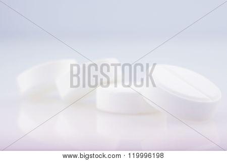 White  Medicine Antibiotic Pills