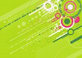 grunge background with many different green circles poster