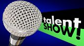 Talent Show Microphone Sing Perform Win Competition poster