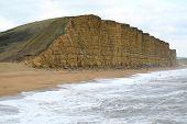 Historic Jurassic coast in Lyme Regis, England poster