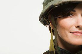 Portrait of a woman soldier