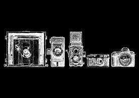 Photo Camera Evolution Set.