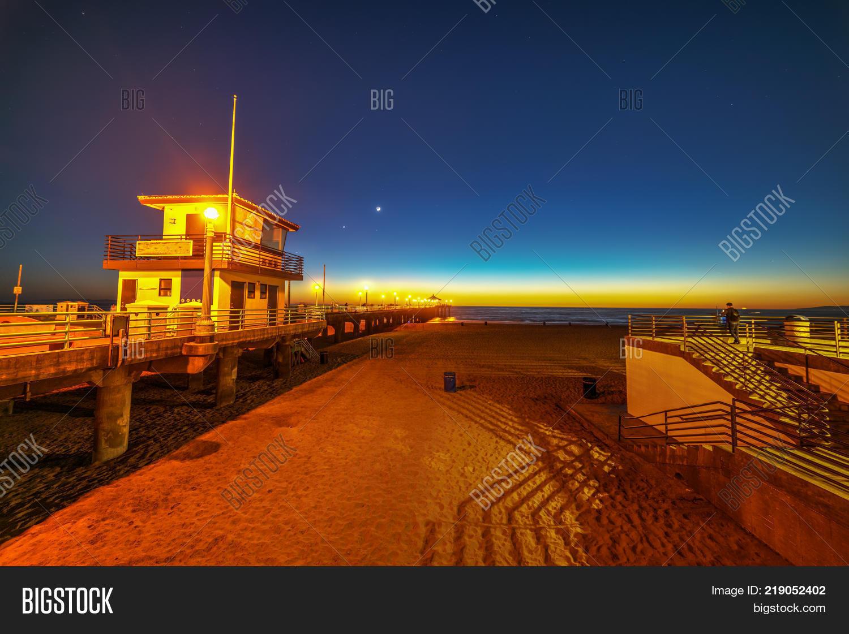 Manhattan Beach Pier Image Photo Free Trial Bigstock