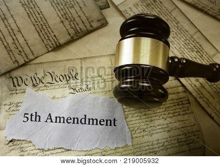 Fifth Amendment news headline on US Constitution