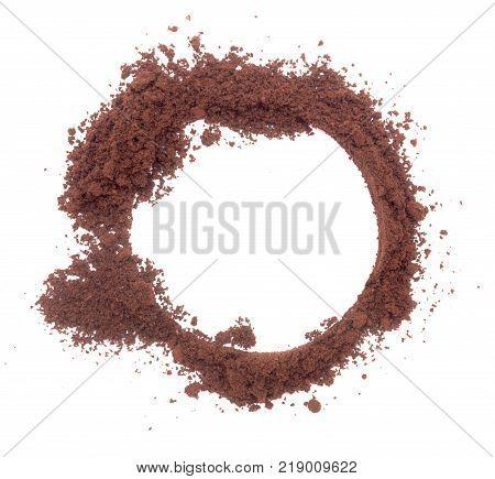 Ground Coffee On White