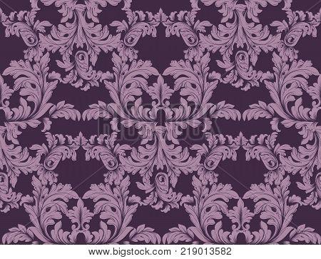 Luxury Baroque Vector ornament decor. Baroque decor background texture