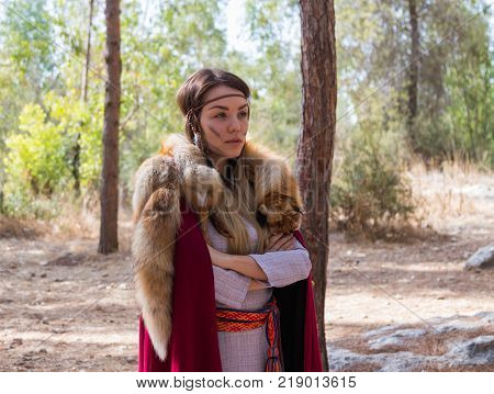 Ben Shemen Israel November 11 2017 : Members of the annual reconstruction of the life of the Vikings -