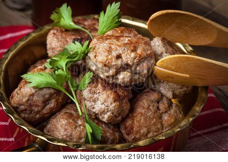Meatball With Parsley.