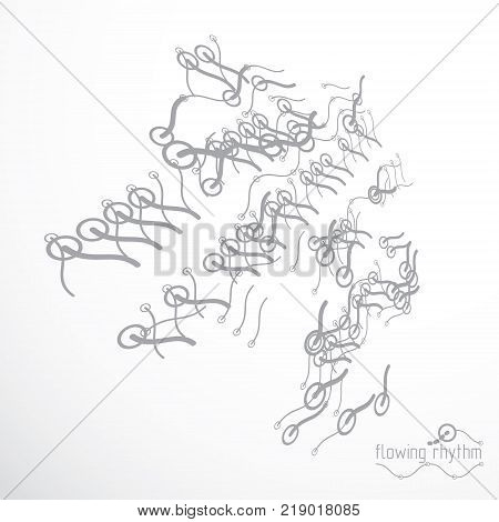 Technological vector backdrop made with abstract lines. Modern geometric composition can be used as template and layout.