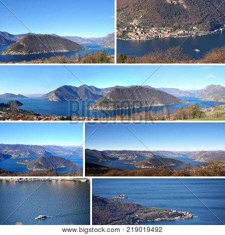 Panoramic view of Lake Iseo set in the Brescia mountains - Brescia - Italy 01