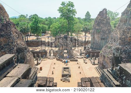 Amazing Pre Rup temple in Angkor Archeological Park, Siem Reap, Cambodia