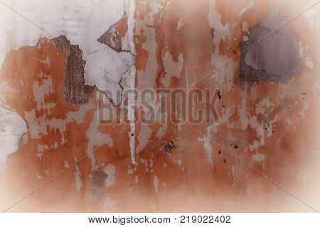 Uneven wall with stains and streaks as background