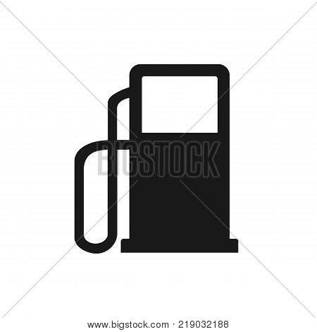 Gasoline pump nozzle sign. Gas station isolated on background. Vector stock.