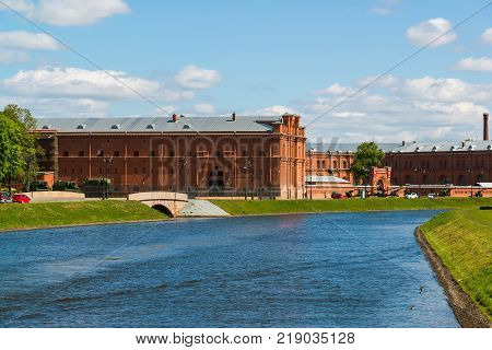 St. Petersburg, Russia - June 04.2017 Kronverkskiy strait and an artillery museum