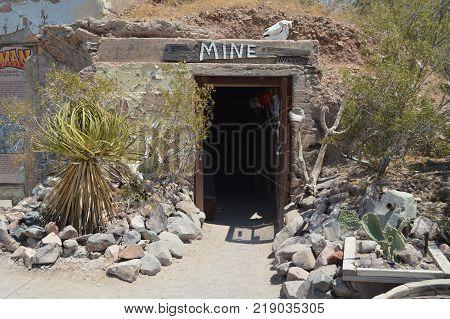 Old Mine Museum In Oatman June 22 2017. Route 66 Oatman. Arizona USA EEUU.