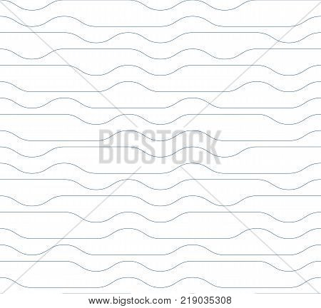 Grayscale vector seamless pattern graphic geometric wrapping paper. Abstract backdrop created with interweave black undulate lines can be used in textile and web designs