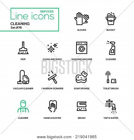 Cleaning - Line Vector & Photo (Free Trial)   Bigstock
