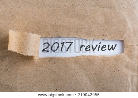2017 review - uncover letter. A passing year summary and review concept.