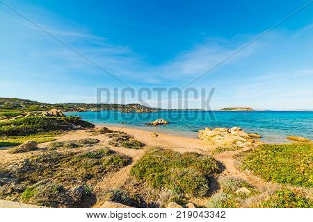 Rocky shore in La Maddalena island Sardinia