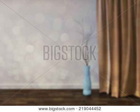 Blurred abstract livingroom decoration interior for background. 3d rendering