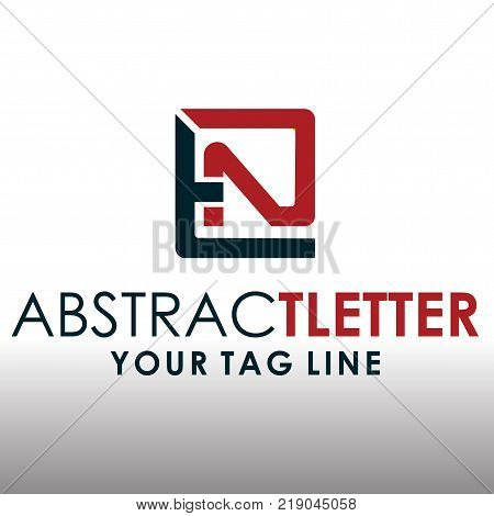 abstract letter logo EN suitable for your company