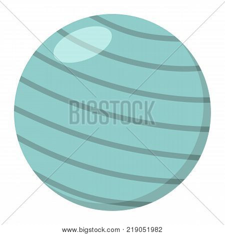 Fitness rubber ball flat icon, fitness and sport, gym ball sign vector graphics, a colorful solid pattern on a white background, eps 10.