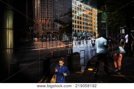 Lights, Shadows And Reflections On The Streets Of Nyc
