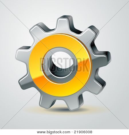 vector gear as configuration icon, 10 eps