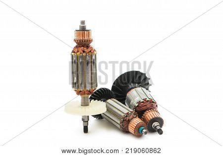 electric anchor motor isolated on white background