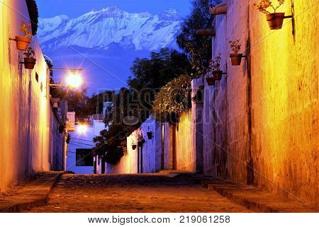 View of Mountain Chachani in Arequipa, Peru