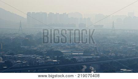 Air pollution Hong Kong city