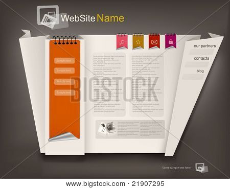 Business website design template. Vector illustration.