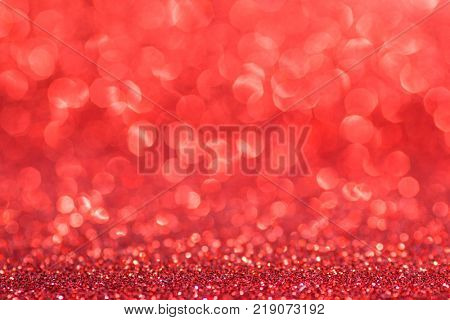 Red glowing bokeh background for Valentines day