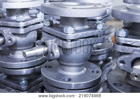 Industrial background from part of valves for power oil or gas industry