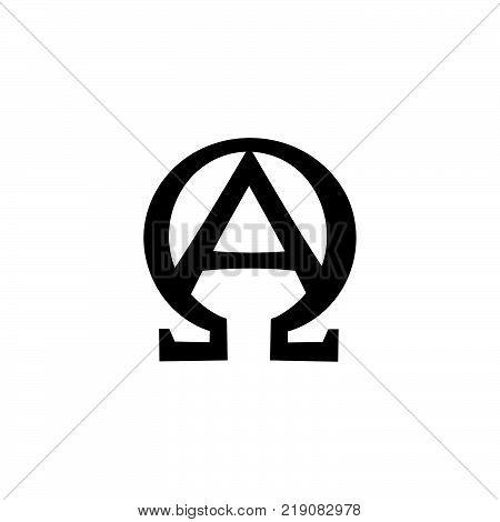 Ancient Sacral Monogram of The Biblical sentence: «Ego sum Alpha et Omega, Principium et Finis, Primus et Ultimus» (