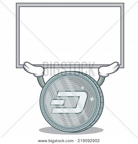 Up board Dash coin character cartoon vector illustration