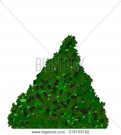 Merry Christmas Tree plain isolated space for your texts and objects and decoration Plain clean vector illustration
