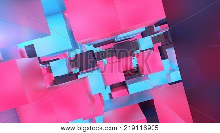 Holographic Cubes Illustration