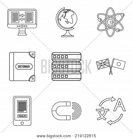 Rank icons set. Outline set of 9 rank vector icons for web isolated on white background