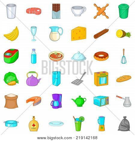 Syrup icons set. Cartoon style of 36 syrup vector icons for web isolated on white background