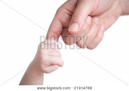 Baby halten Mutter finger