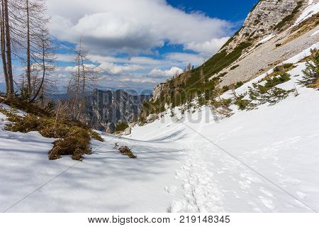 Alpine View In The Vicinity Of The Pass Vrsic