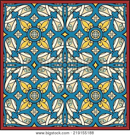 multifold symmetry in medieval style, abstract background or decorative pattern