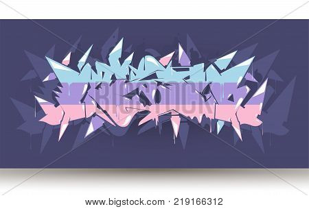 Hip hop abstract background wildstyle,vector. Typography for poster,t-shirt or stickers. Text background