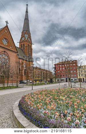 The Gustav Adolf church in the southside of Helsingborg city in Sweden.