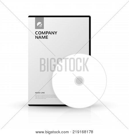 Template for DVD Box and DVD-disc for company presentation