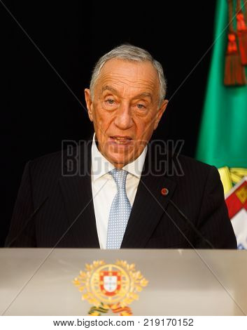 President Of Portugal Marcelo Rebelo De Sousa